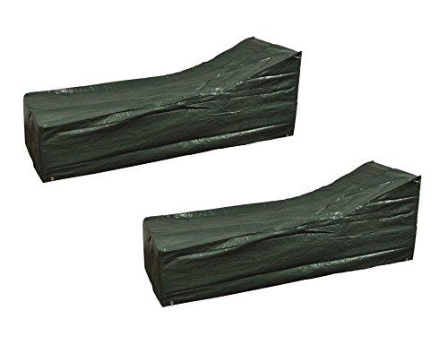 Set von 2x Selections Wasserdicht Solarium Abdeckungen in Grün