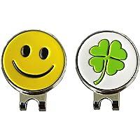 Golf Ball Marker Mit Magnet Hat Clip, ein Paar–pinmei