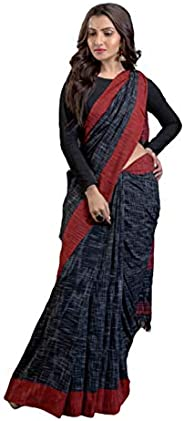 Women's Khadi Cotton Saree With Blouse Piece (BD 31_Bl