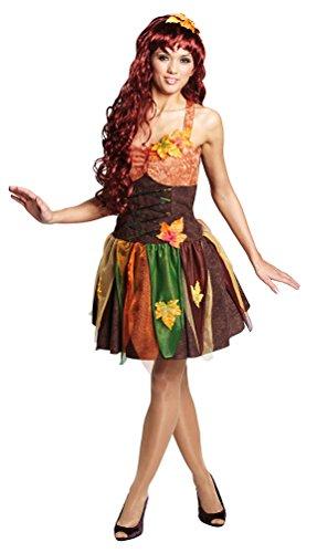 ,Karneval Klamotten' Kostüm Sexy Waldfee Herbst Dame Kostüm Karneval Märchen Damenkostüm Größe (Fee Kostüme Sexy)