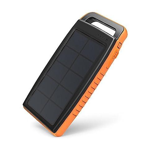 Chargeur Solaire Portable de 15000mAh RAVPower avec Deux Méthodes de