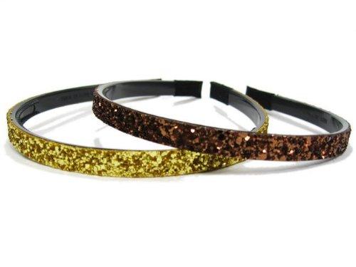 rougecaramel-Capelli-Serra testa/Headband Glitter Set di 2pcs colore assortiti