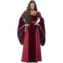 Smiffys - Disfraz de Reina Medieval, Color Rojo (27877M)