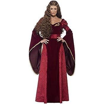Deluxe Coiffe De Reine Smiffys Costume MédiévaleRougeAvec RobeCeinture Et c5A4jLqR3