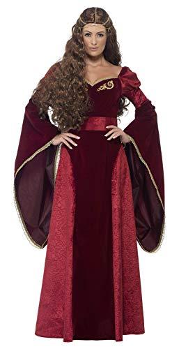 Smiffys 27877L - Medieval Queen Deluxe Kostüm mit Kleid Belt und ()