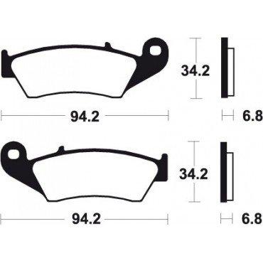 Preisvergleich Produktbild KAWASAKI KX 125-250- 500-94 / 08-BREMSBELÄGE VORNE MO194 BENDIX - 381944