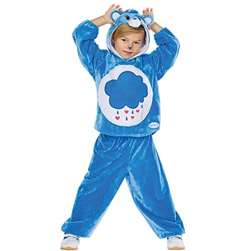 Glücksbärchi Zubehör Kostüm - Rubie's Kinder Kostüm Brummbärchi Gr. 104-140 blau Glücksbärchis Fasching Karneval (116)