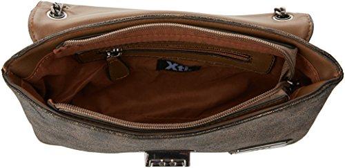 XTI 85844, Borsa a Mano Donna, 28x20x5 cm (W x H x L) Marrone (Metalizado Bronce)