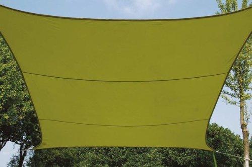 VOILE SOLAIRE - CARRÉ - 3.6 X 3.6 M - COULEUR: VERT LIME