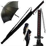 Paraguas Grande Negro Estilo Samurai 104 cm Fantasy Gifts