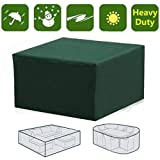 dDanke Wasserdichte rechteckige Abdeckung für Gartenmöbel mit UV-Schutz für Terrassentisch, Gartenmöbel, mit 13 Größen, Grün