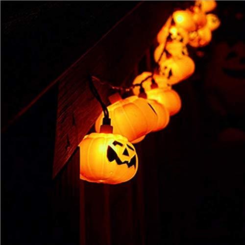 Solar Lichterkette 10LED Kürbis Laterne Halloween Outdoor Dekoration Lustiges Festival Gartendekoration Ghost Festival