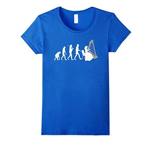 harp-player-evolution-funny-music-t-shirt-female-medium-royal-blue
