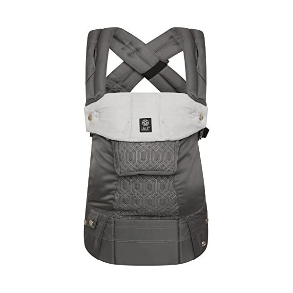 LÍLLÉbaby  Complete Embossed 6-in-1 Baby Carrier, Mystique Grey Lillebaby 6 carrying positions - foetal, infant inward, outward, toddler inward, hip, back Suitable from 3.2- 20kg (birth to approx. 4 years old Luxurious, breathable microfiber 2