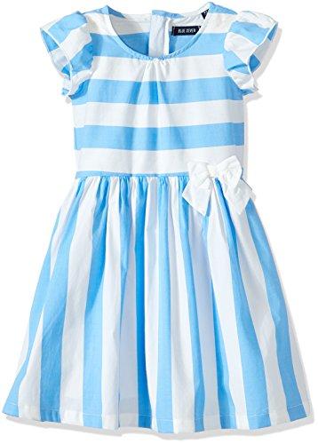 Blue Seven Mädchen RH Kleid, Blau (Mittelblau 510), 128