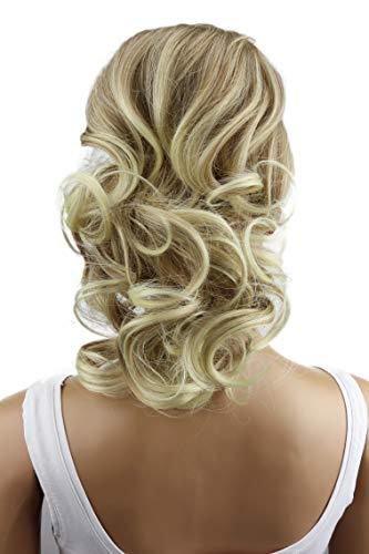 PRETTYSHOP 40cm Haarteil Zopf Pferdeschwanz Haarverdichtung Haarverlängerung VOLUMINÖS 40cm blond mix #28T613 PH210