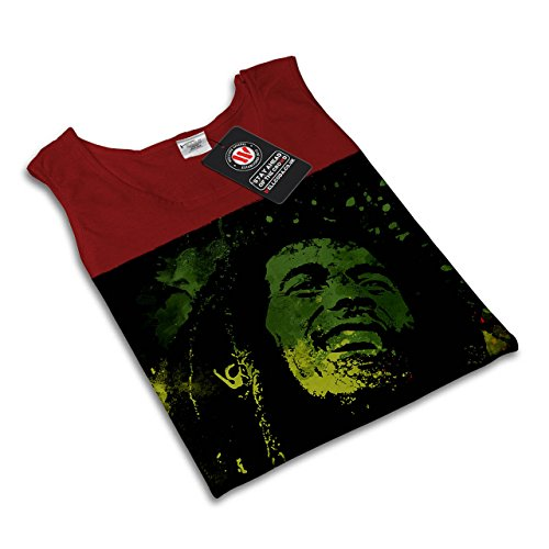 Legende Rasta Bob Marley Rasta Leben Damen S-2XL Muskelshirt   Wellcoda Rot