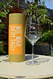 Sternefresser XL Wie war Dein Tag-Weinglas (1x 540ml Glas) von Schott Zwiesel | Made in Germany | Guter Tag, Schlechter Tag, Frag Nicht -Weinglas mit Gravur | Rotwein Weißwein