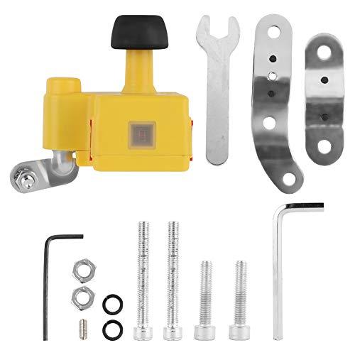 Fahrrad Generator, Dynamo Bike Wasserdichtes Leichtes Fahrrad Elektrisches Fahrrad Mechanischer Stromgenerator Dual USB Ausgang zum Aufladen von Telefon, Fahrradlampen, GPS(Gelb)