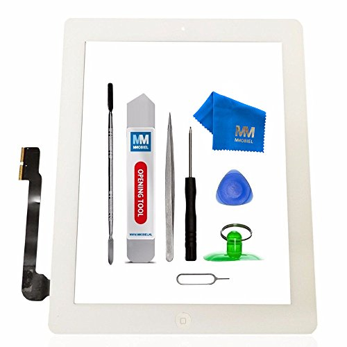MMOBIEL Digitizer Compatible with iPad 3 (White) 9.7 Inch Touchscreen Front Display Assembly Incl Tool kit