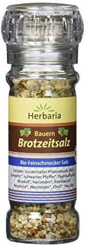 Herbaria Bauern Brotzeitsalz Mühle BIO, 2er Pack (2 x 70 g)