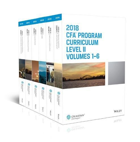 CFA Program Curriculum 2018 Level II: Volumes 1 - 6 Box Set (CFA Curriculum 2018) (Program Curriculum Cfa)