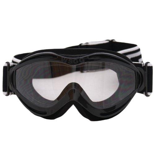 Dixon WSGG - Motorrad-Brille für Kinder - Schutzbrille - Motocross - Schwarz