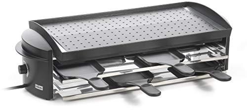 Stöckli Grill Cheeseboard, antihaftbeschichtet,INOX-Spritzschutzblechen, 8 Raclettepfännchen 0008.02