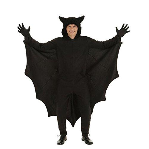 Meijunter Halloween Cosplay Bat Overall Kostüme mit Handschuhen für Männer (Overall Kostüme Mit Halloween)