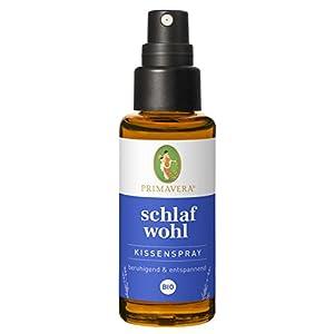 Primavera Schlafwohl Kissenspray Bio 30 ml – Textil- und Raumduft mit Lavendel, Vanille und Neroli – Aromatherapie – beruhigend – vegan
