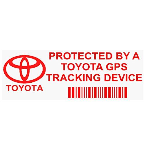 Aufkleber für die Pkw-Scheibe Toyota GPS Tracking (in englischer Sprache) von Platinum Place, Set mit 5 Stück, rot, 87 x 30 mm - PPTOYOTAGPSRED Platinum Gps