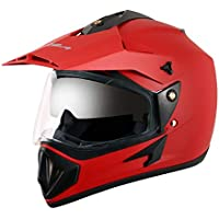 Vega - OR-D/V-DR_L Off Road D/V Dull Red Helmet-L