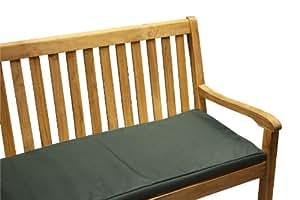 "Waterproof Garden Bench Pad / Swing Seat Cushion (42"" x 18"") Bottle Green"