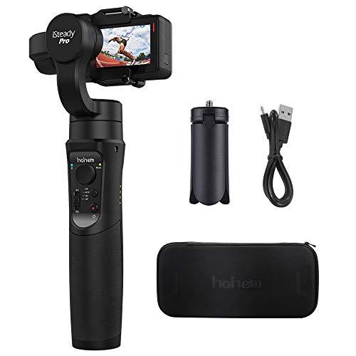 Hohem iSteady Pro 3 Axes Cardan pour Gopro Hero 6/5/4/3, SJcam, Yi 4K ou Taille similaire pour caméra d'action, avec Support trépied et rallonge (Black)
