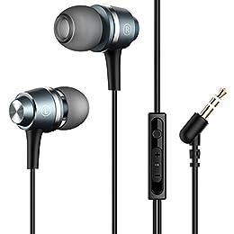 Mpow Auriculares In-Ear Sonido Estéreo, Auriculares con Micrófono y Control en Cable para Móvil, Smartphones BQ Aquaris, iPhone 6/6s, Samsung Galaxy S9/8/7/6, Huawei Mate/P/Y/G Series, XiaoMi, PC, iPad, iPod MP3/MP4
