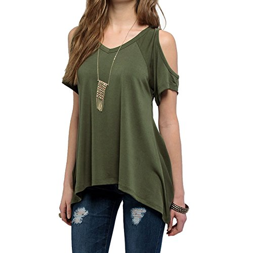 dream-garden-women-short-sleeve-shoulder-off-wide-hem-design-loose-stretch-top-shirt-blouse-uk16-arm