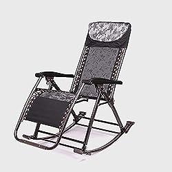BLWX-Sedia pieghevole a Dondolo Sedia reclinabile Sedia per Balcone Sedia Pieghevole per Adulti Sedia per Pausa Pranzo Sedia per Il Tempo Libero Seduta per Anziani Sedia Pieghevole (Colore : B)