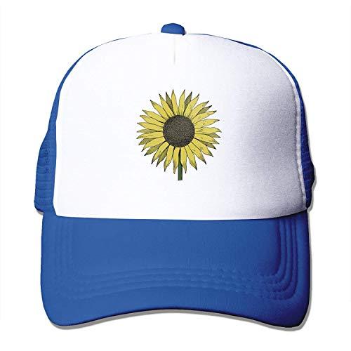 Quakess Sonnenblume Baseball-Kappe justierbarer Hut für Männer Frauen, Blau, OneSize