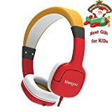 Maegoo Cuffie per Bambini, Cuffie Cablate con Microfono & Controllo del Volume 85dB Limitante, Over-Ear Cuffie Bambini Ragazzi Ragazze Auricolare per Telefono Cellulare PC Tablet (Rosa)