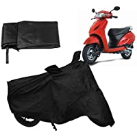DRIZE™ Mascot Two Wheelers Cover for Honda Activa 5G Extra Surface Body Protection Cover (Black)