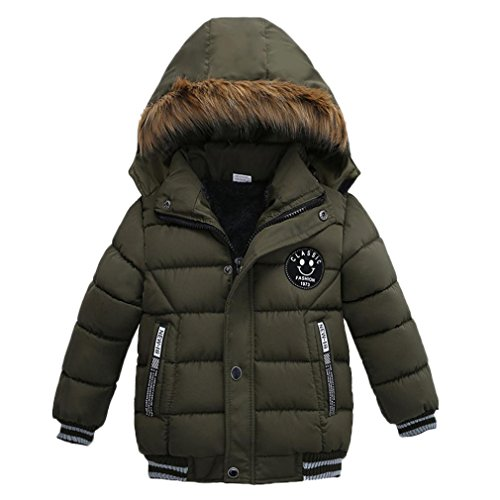 Babykleidung,Sannysis Kinder Mantel Jungen Mädchen Dick Jacke Gepolsterte Winterjacke Kleidung 2-5Jahre (100, Grün) (Grün-reversibel-t-shirt)