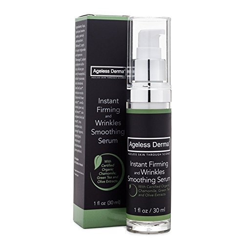 Ageless Derma Instant Firming and Wrinkles Smoothing Serum 1oz with sodium hyaluronate and Peptides by Dr. Mostamand With Certified Organic Ingredients by Ageless Derma -