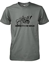 Music by wantAtshirt - Born To Be Wild - Rock and Roll T-shirt S to 2XL