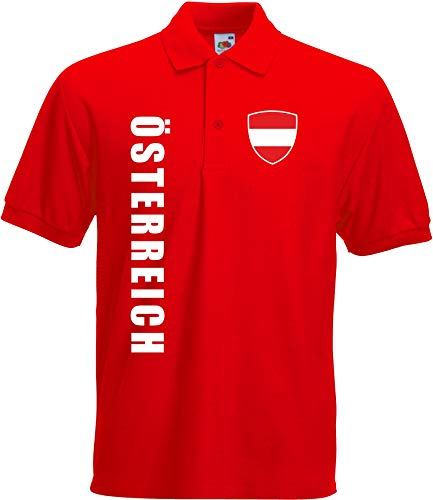 aprom - Österreich Kinder Polo T-Shirt Trikot Fußball SPA AUS (116)