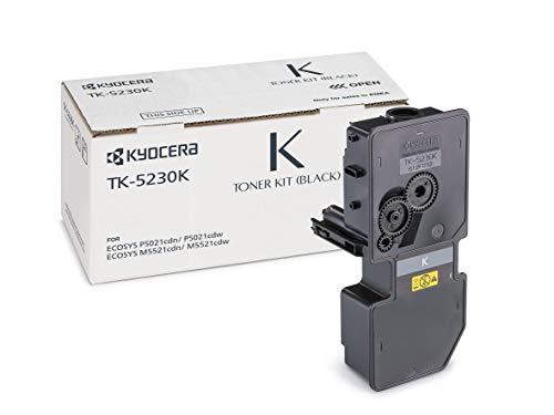 Kyocera TK-5230K  Original Toner-Kartusche Schwarz 1T02R90NL0. Für ECOSYS M5521cdn, ECOSYS M5521cdw, ECOSYS P5021cdn, ECOSYS P5021cdw. Amazon Dash Replanishment-Kompatibel