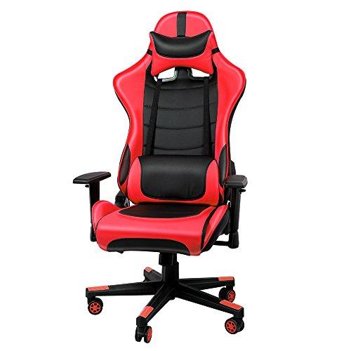 IntimaTe WM Heart Gaming-Sessel, aus Kunstleder, 3D-Rückenlehne, ergonomisch, Lenden-Kissen, verstellbare Armlehnen für Büro mit drehbaren Rädern, 836334