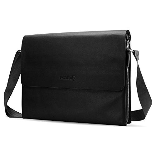 JAMMYLIZARD | JL Pro multifunktionale Leder Laptoptasche bis 16 Zoll, Schwarz (Hp-laptop-ledertasche)