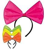 KarnevalsTeufel Haarreife große Schleife pink grün gelb orange (Pink)
