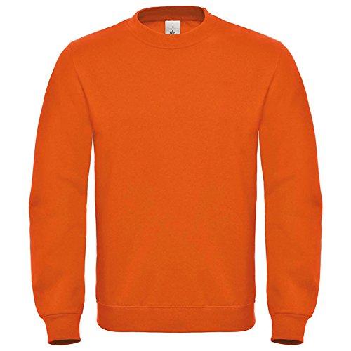 B&C Collection Herren Modern Sweatshirt Gr. XXXL, Orange (Blue Crewneck Distressed)