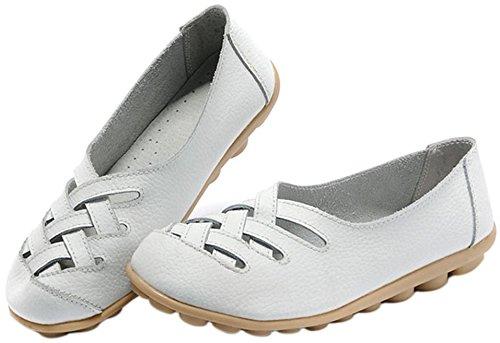 Fangsto  Flats,  Damen Sneaker Low-Tops Weiß
